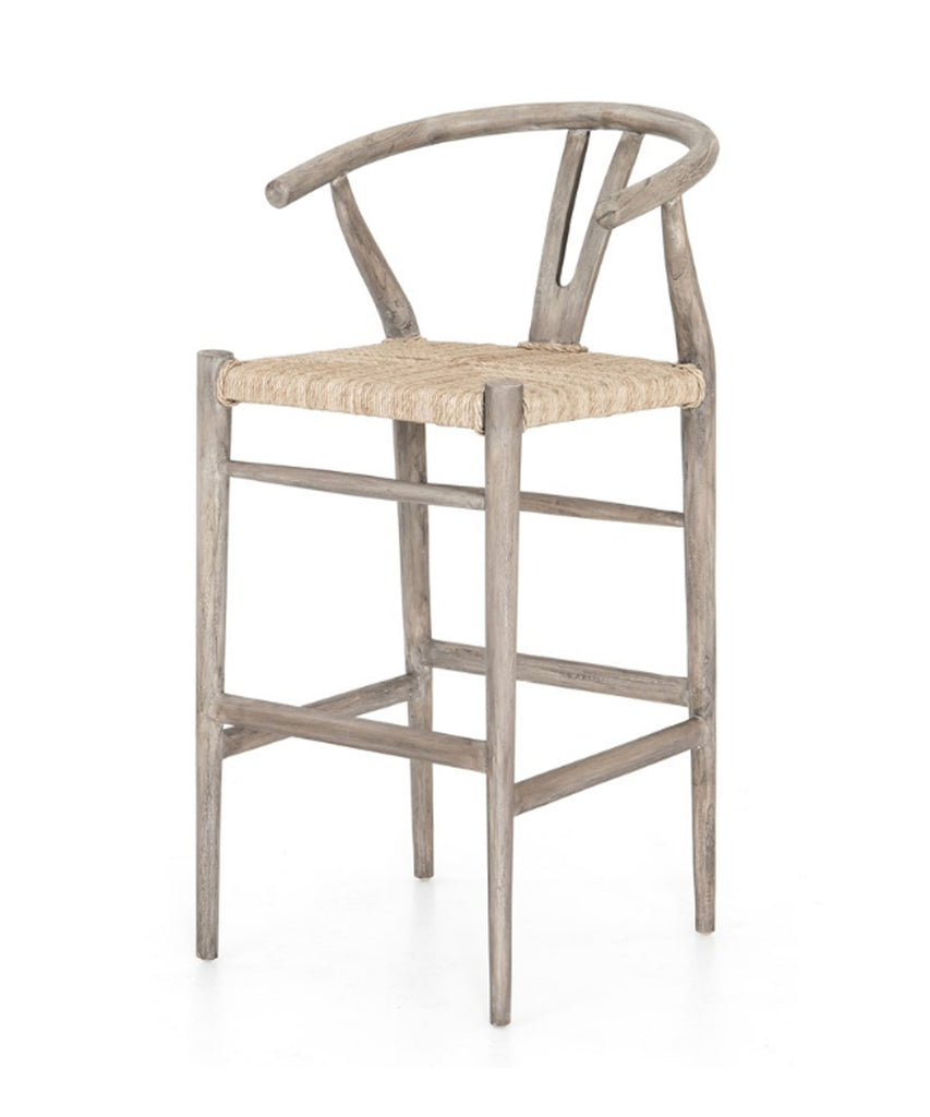Mattis Bar Stool, Grey Wash