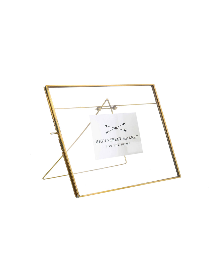 "Monarch Easel 8"" x 10"" Horizontal Frame, Brass"
