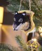 Woodland Felt Plaque, Wolf Ornament