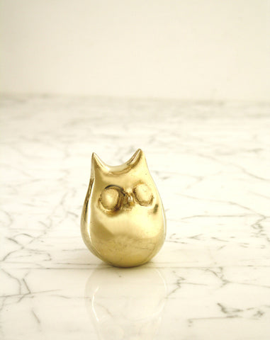 Chubby Brass Owl Bottle Opener