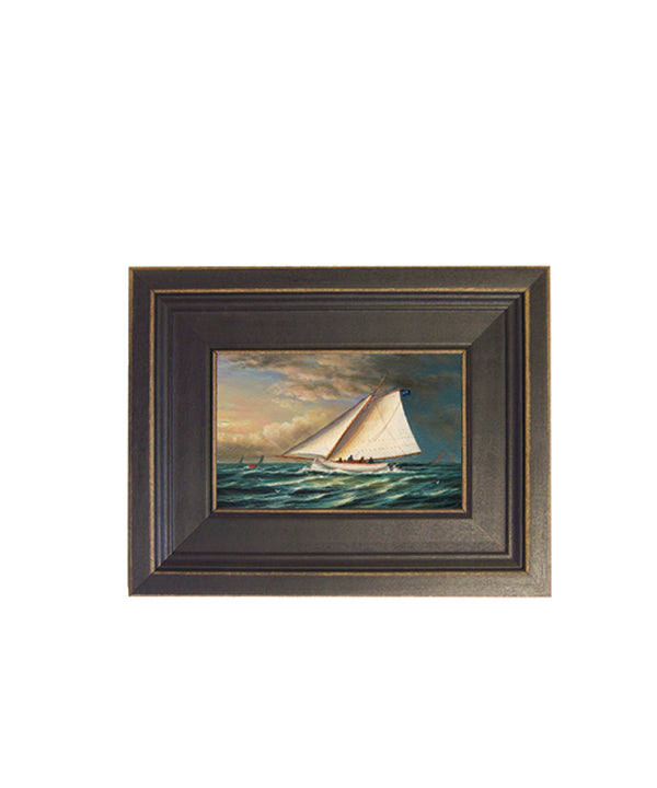 Framed Racing Boat