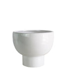 Pedestal Bowl Planter, White