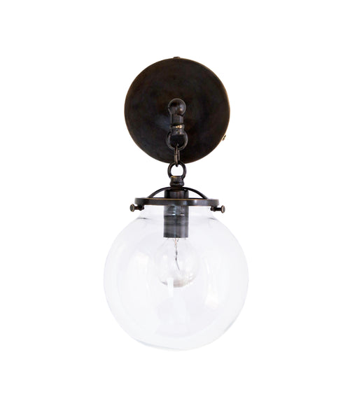 Betsy wall sconce bronze and clear glass globe high street market betsy wall sconce bronze and clear glass globe aloadofball Choice Image
