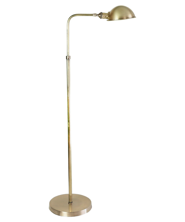 Pharmacy Adjustable Floor Lamp, Antique Brass