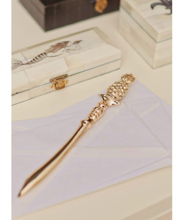 Brass Pineapple Letter Opener