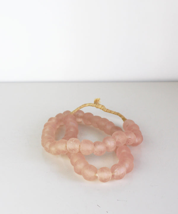 Recycled Glass Beads, Pink