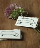 Blank Banner Placecards or Gift Tags, Box Set of 32
