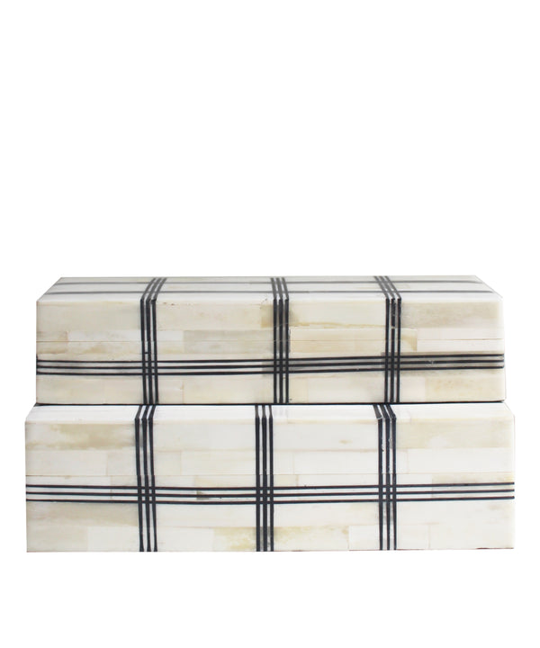 Plaid Bone Clad Storage Box