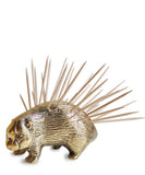 Brass Porcupine Toothpick Holder