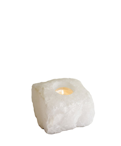 Chunky Quartz Votive Holder
