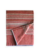 Weekender Stripe Throw Blanket in Rust/Silver Faribault Woolen Mill Co.