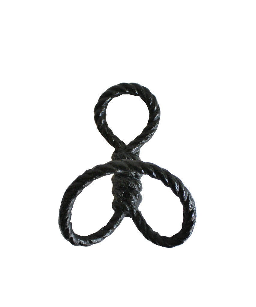 Rope Wall Hook, Black