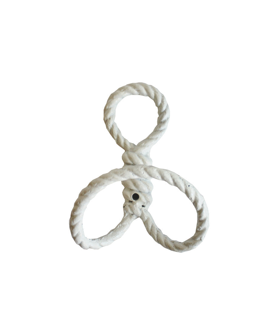 Rope Wall Hook, White