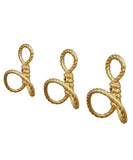 Rope Wall Hook, Gold