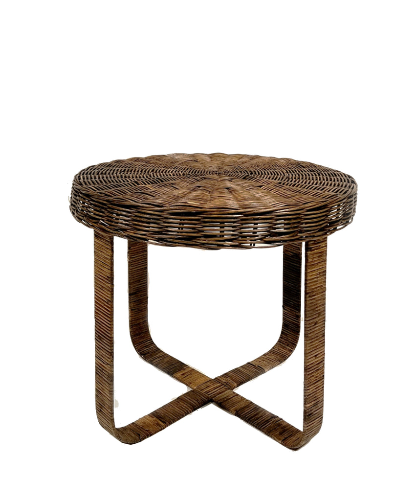 Newport Woven Rattan Side Table