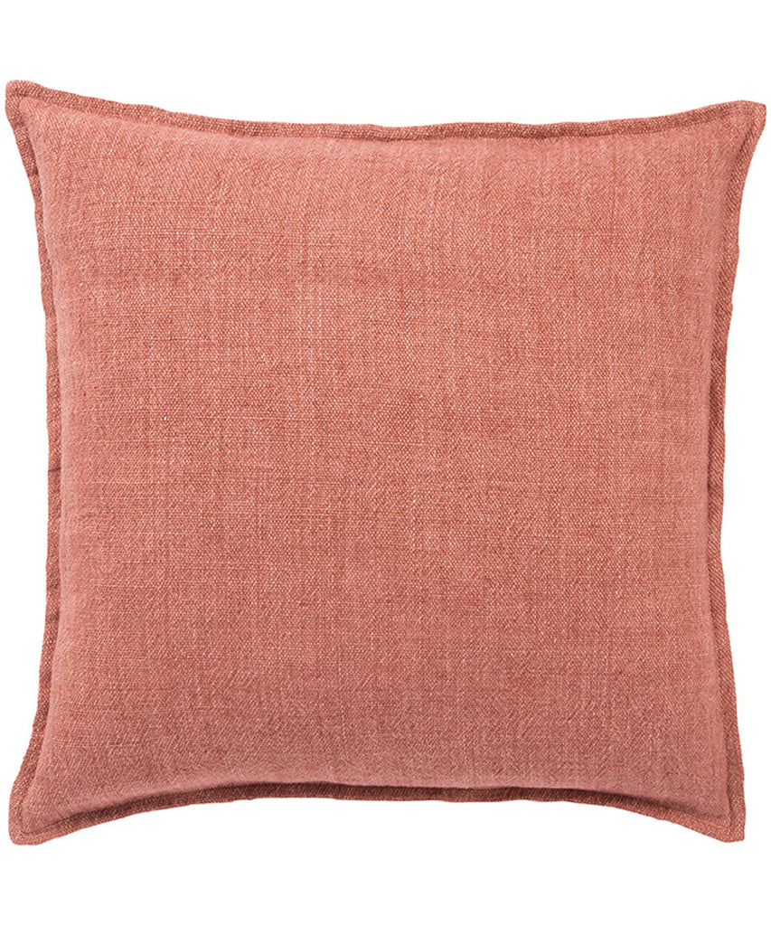 Linen Weave Pillow, Rust