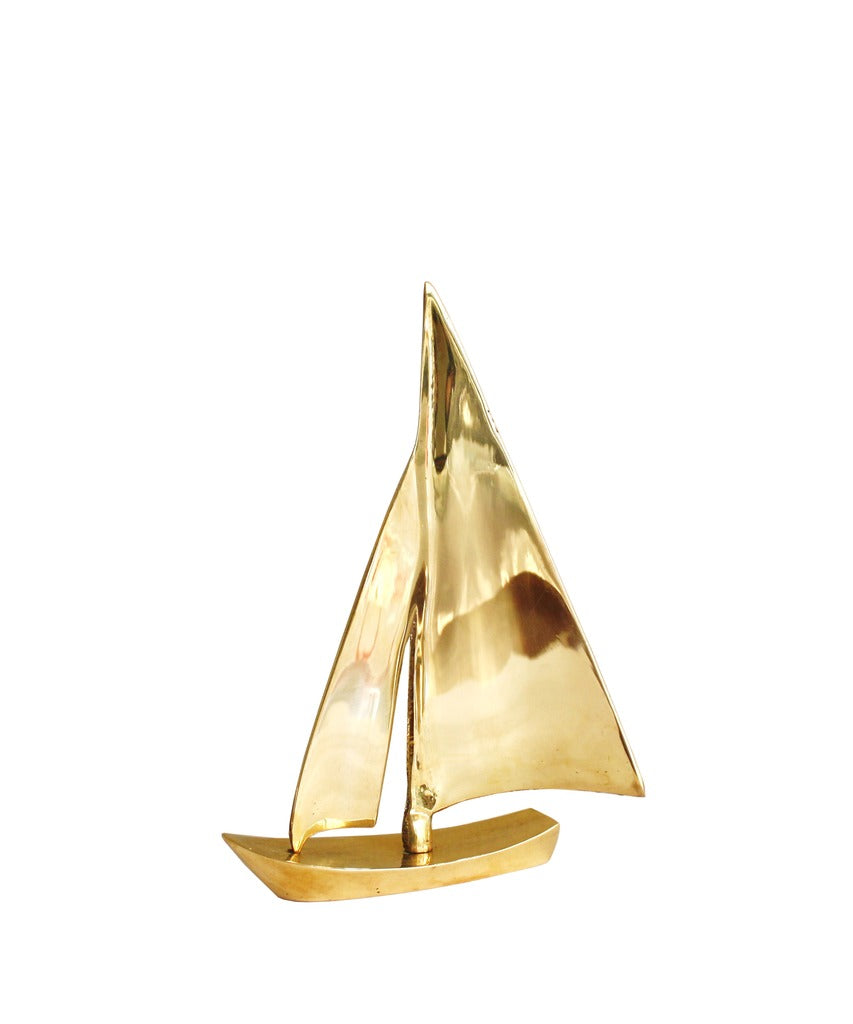 Decorative Brass Sailboat – High Street Market