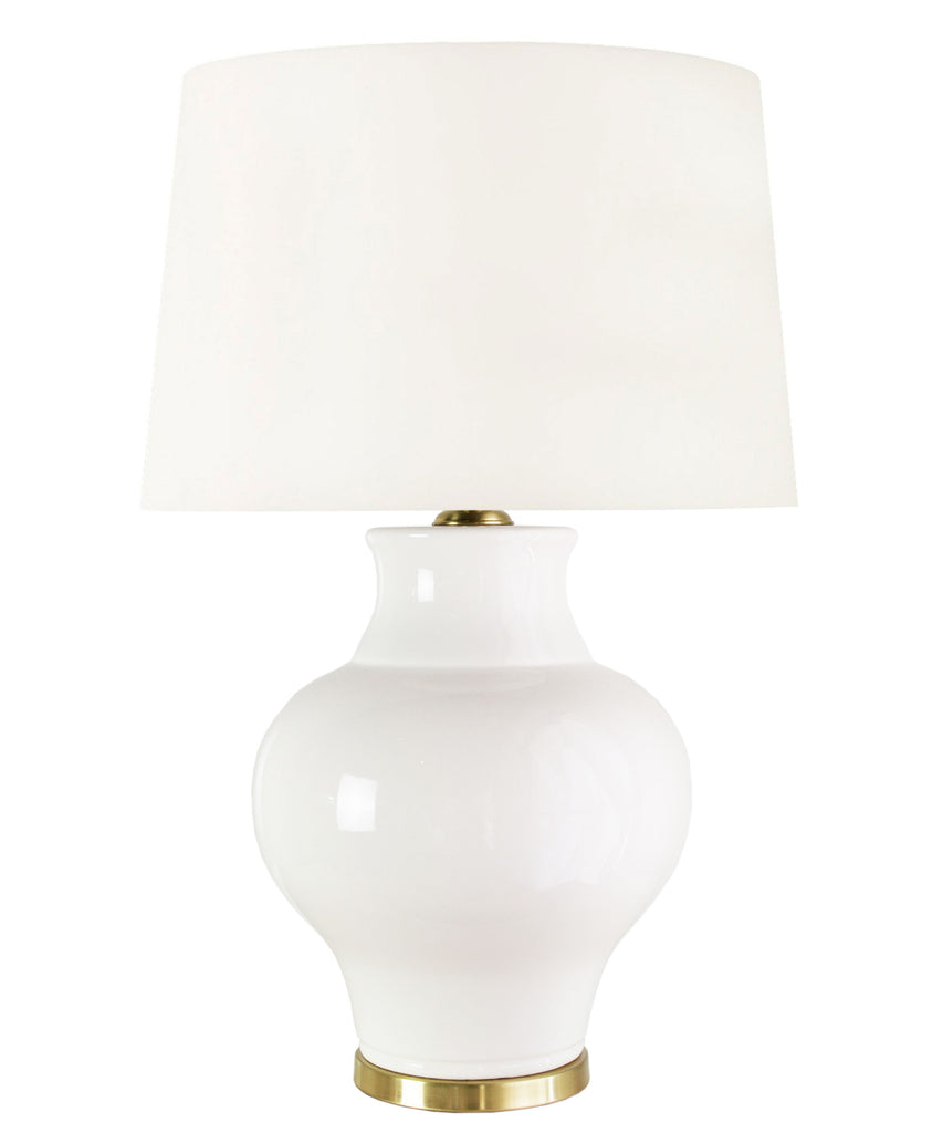 Samantha Table Lamp, White