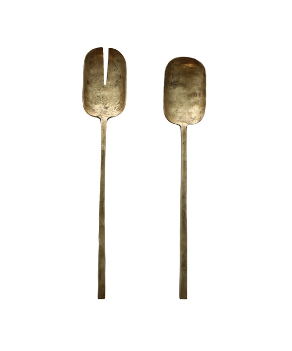 Rustic Brass Serving Set
