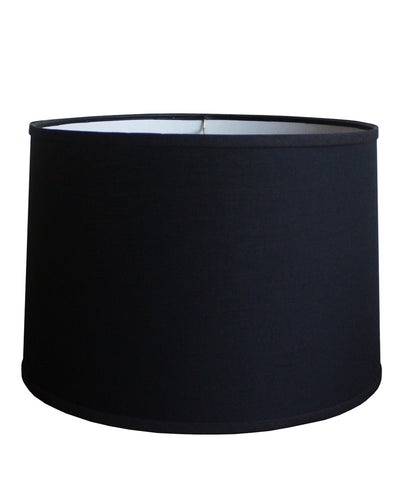 Black Linen Drumshade, Large