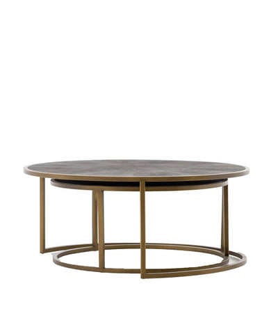 Shagreen Nesting Coffee Tables