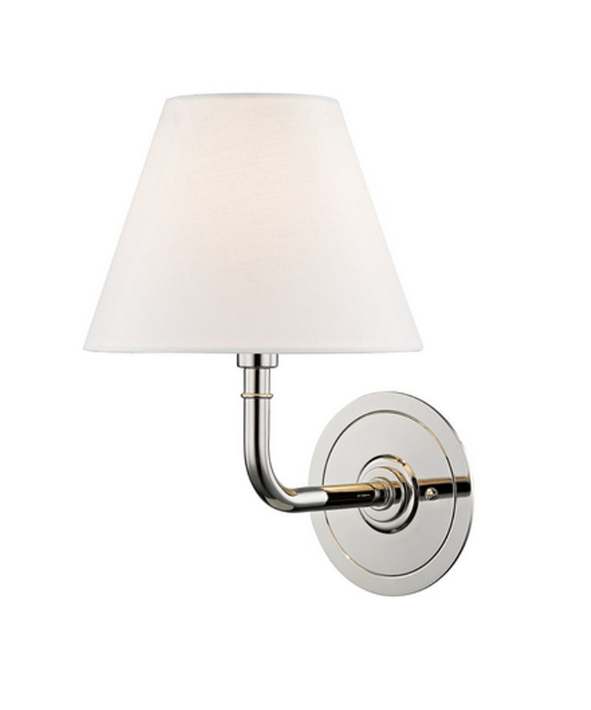 Signature No. 1 Single Light Wall Sconce, Polished Nickel