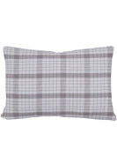 Faribault Plaid Wool Lumbar Pillow in Silver Window Pane, Faribault Woolen Mill Co.