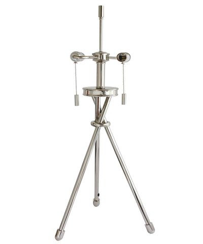 Tripod Table Lamp, Polished Nickel