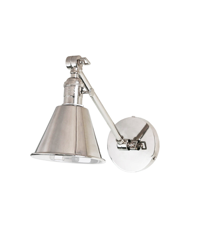 dp wall sconce com lighting nuvo one vintage clear cone glass incandescent polished nickel light amazon