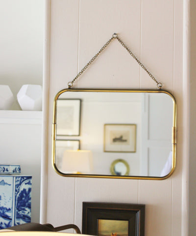 Medium Brass Soho Mirror