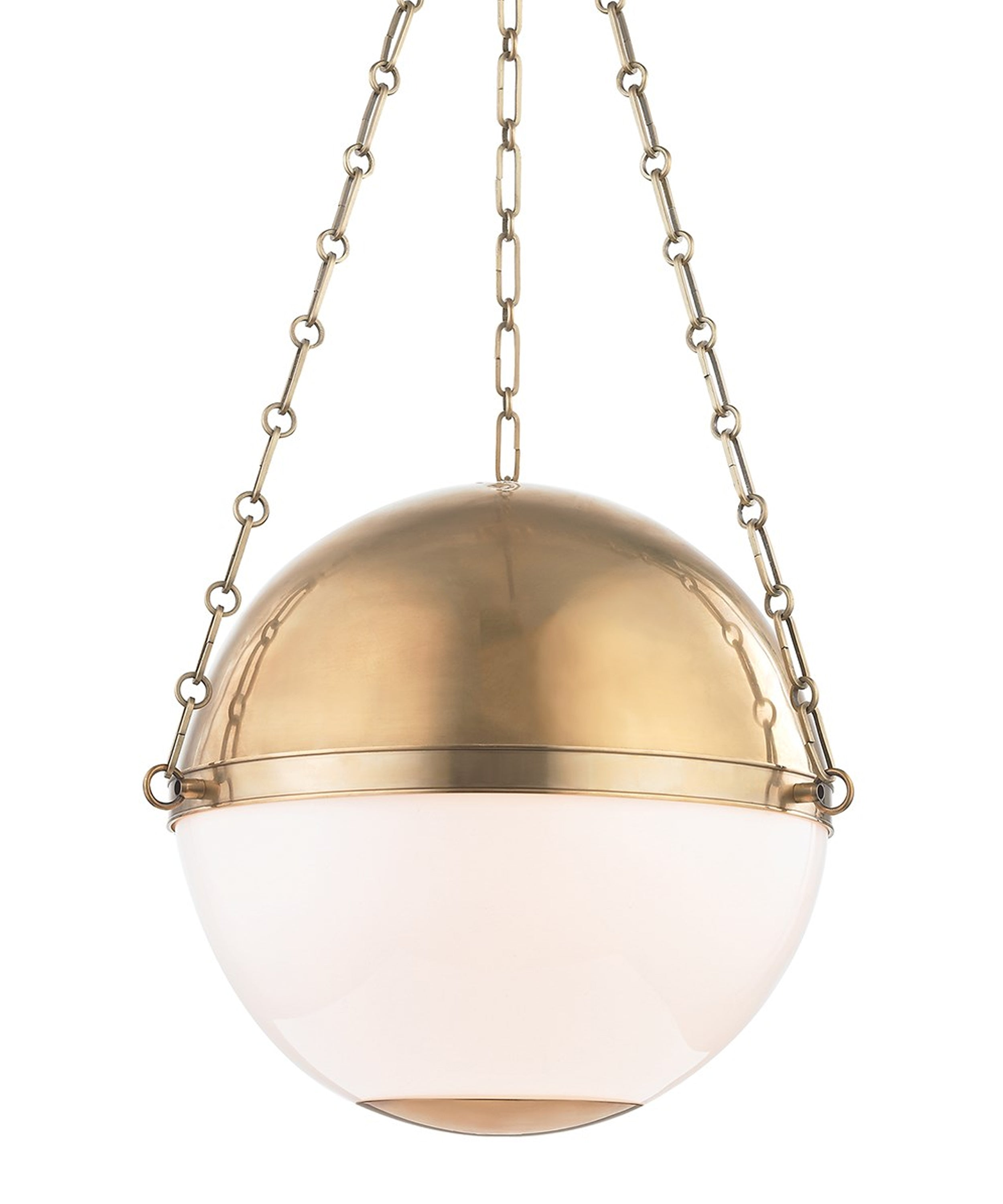 Large Sphere No. 2 Pendant, Aged Brass