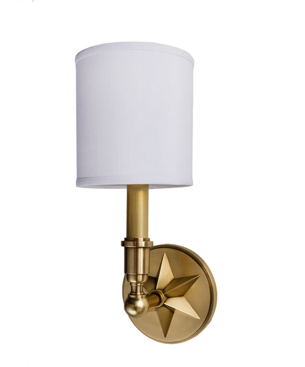 Bethesda Single Light Wall Sconce, Aged Brass