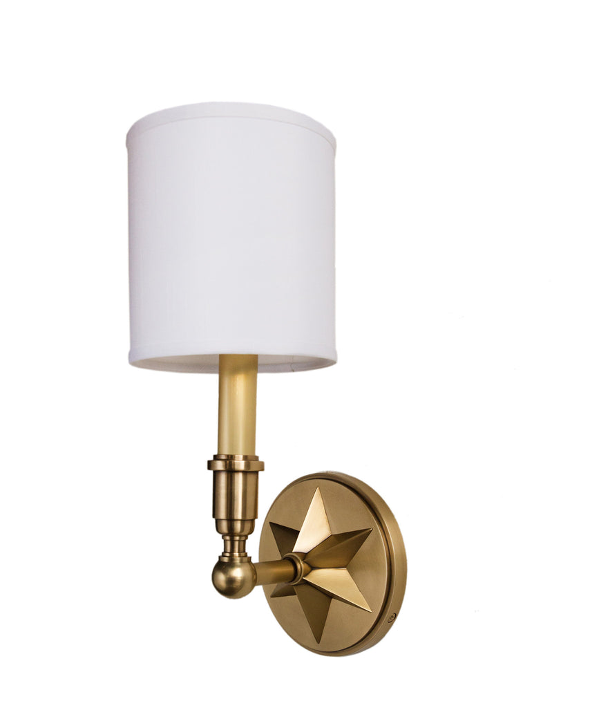 Bethesda Single Light Wall Sconce Aged Brass High Street Market - Single light bathroom sconce