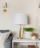 Taft Table Lamp, Brass