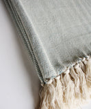Herringbone Weave Throw Blanket, Mist