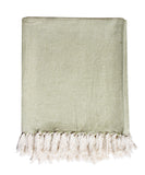 Herringbone Weave Throw Blanket, Fern