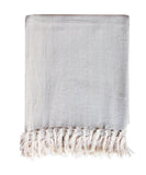 Herringbone Weave Throw Blanket, Natural