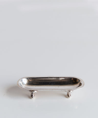 Petite Vintage Silver Toothpick Tray
