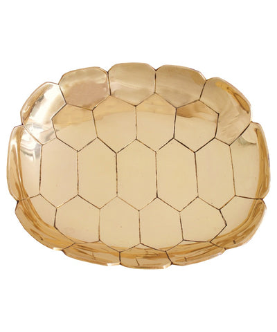 Turtle Shell Brass Tray Large
