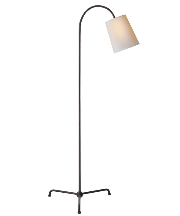 Mia Floor Lamp, Aged Iron