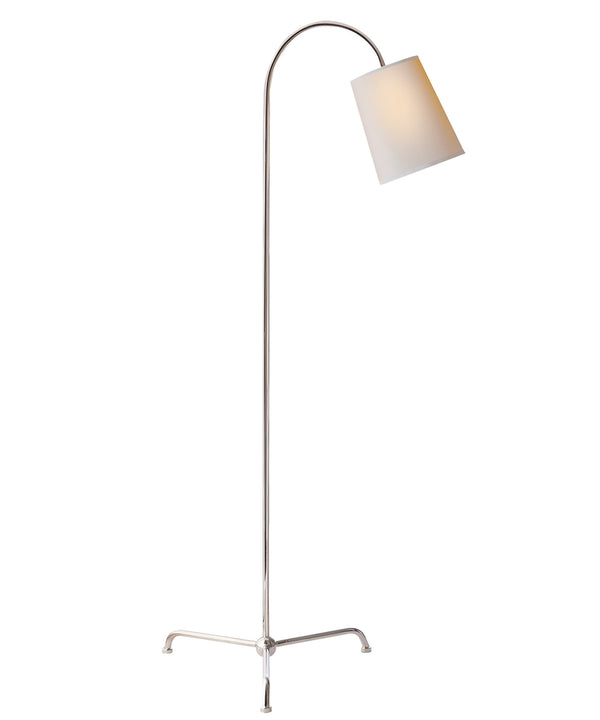 Mia Floor Lamp, Polished Nickel