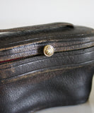Vintage Black Binoculars with Leather Case