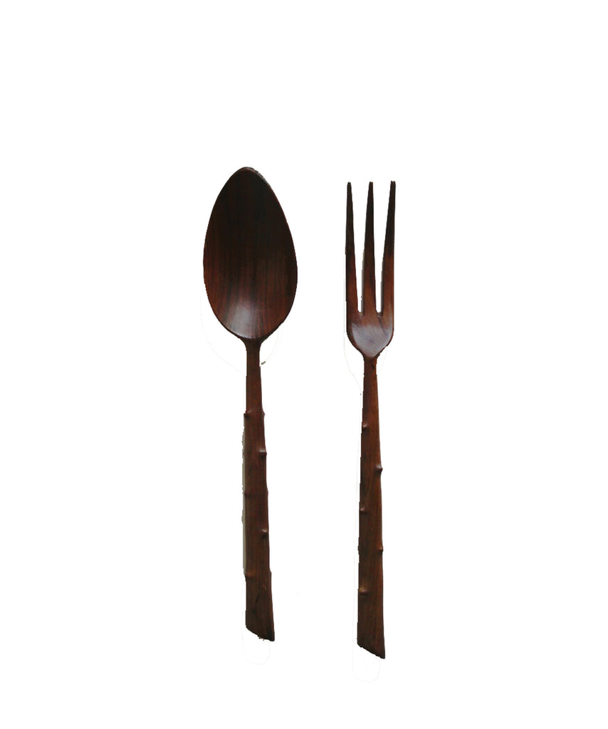 Midcentury Wooden Serving Set