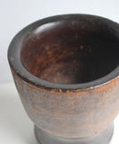 Antique Wooden Mortar & Pestles Bowl