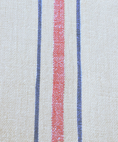 Vintage Linen Stripe Lumbar Pillow