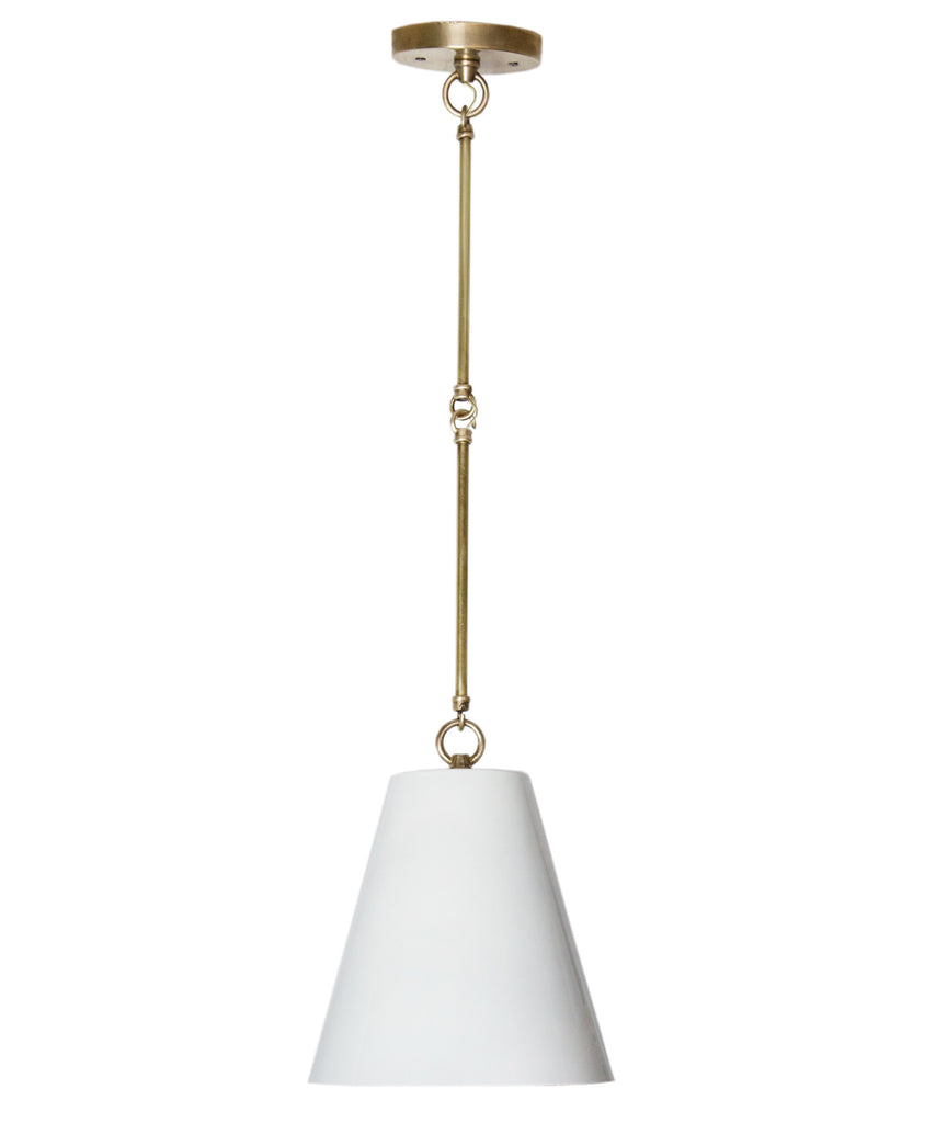 Taylor Tapered Pendant, White
