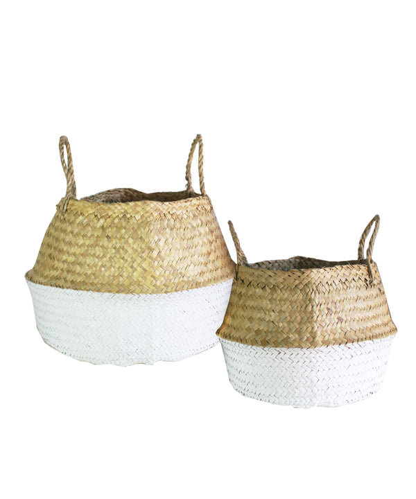 Dipped Sea Grass Woven Basket