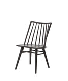 Elsie Windsor Dining Chair, Black Oak