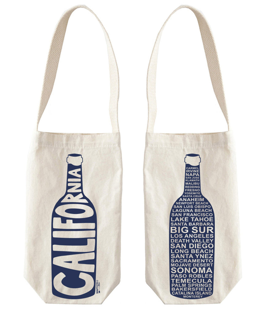 """California"" Wine Tote, Canvas - High Street Market"