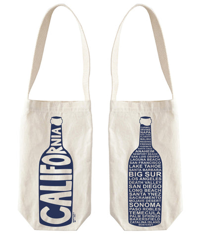 """California"" Wine Tote, Canvas"